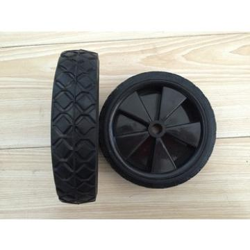 rubber garbage can / waste bin wheels 6 inch