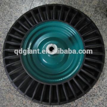 steel rims wheels solid rubber trolley tyre 3.50-8