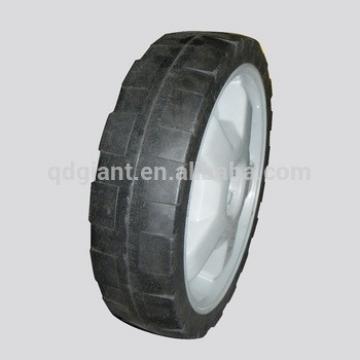12 inch plastic rim lawn mover solid rubber wheel
