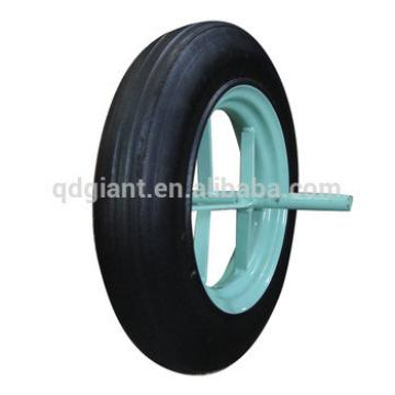 """Solid rubber wheel with long axle 13""""x3.25-8"""