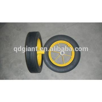 hot sale 16inch durable solid wheelbarrow wheels / tyres