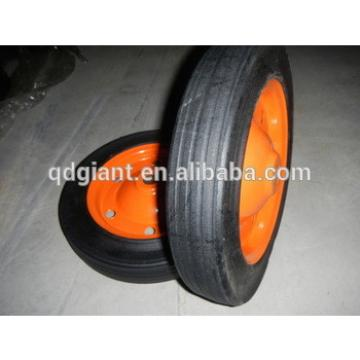 "solid rubber wheelbarrow wheels / tyres 13""x3"""