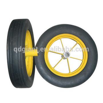 16 inch common steel rim solid rubber wheel