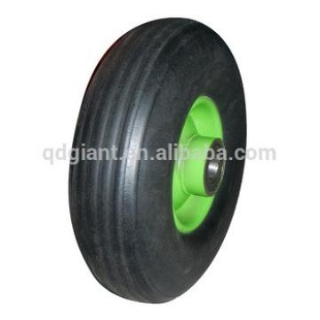 9 inch green rim factory price solid rubber wheel