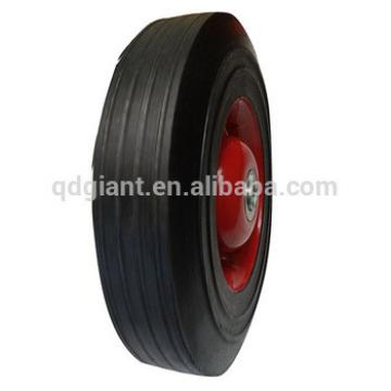 """High quality good price 10""""x2.5"""" solid rubber wheel"""