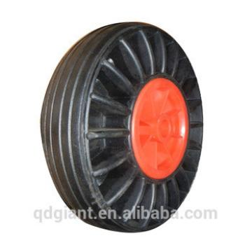 """10""""x3"""" cheap hot sale red plastic rim solid rubber wheels"""