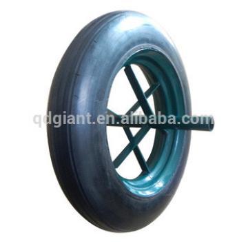 "14""x4"" hard tyre solid rubber wheelbarrow wheel"