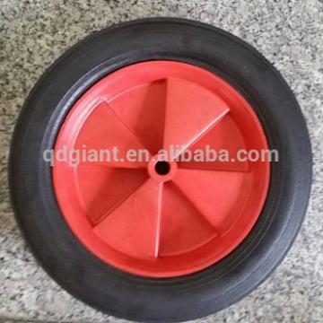 Hot sale red plastic rim solid rubber wheel 10 inch wheel