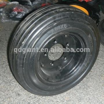 Supply 4.00-8 tubeless solid wheel barrow wheel