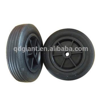 6 inch low price heavy duty solid rubber wheel