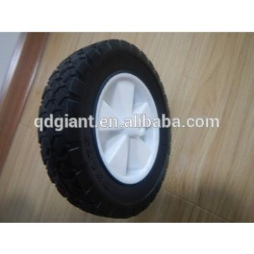 8 inch PVC and semi solid rubber lawn mower wheel