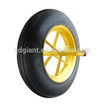 14x4 rubber powder wheel with axle for construction wheelbarrow 6400