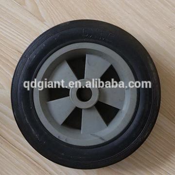 5inch trash bin wheel small solid rubber wheel