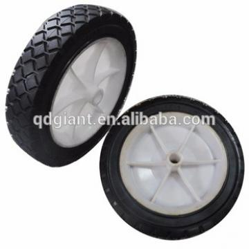 "castor wheel solid rubber wheel 7"" x 1.5"" with plastic rim"