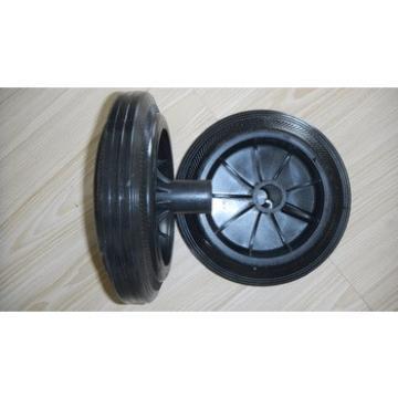 China cheap garbage bin wheels 8'' solid rubber wheel