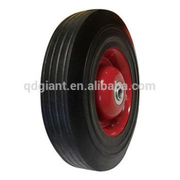 "China good quality shipping car solid rubber wheel 10""x2.5"""