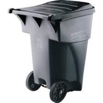 8inch solid rubber trash bins wheels