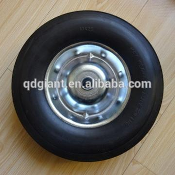 """10""""x2.5'' solid rubber wheel for hand trolleys and wheel barrow"""
