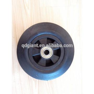 8inch solid rubber wagon cart wheel with metal rim