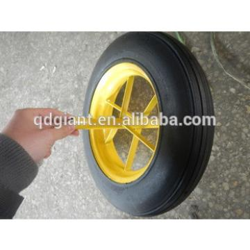 """chinese tyres supplier solid rubber wheel for trolley 14""""x4"""""""