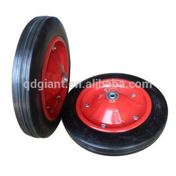 Durable Steel Rim 13x3 Wheelbarrow Solid Rubber Wheel