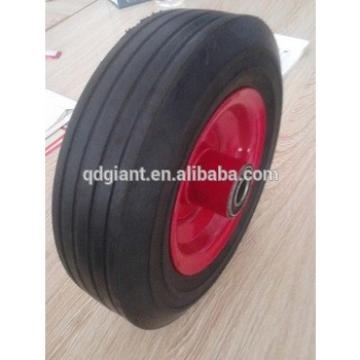 8'' solid rubber wheel for hand trolley