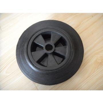 8inch dust bin wheels solid rubber wheel