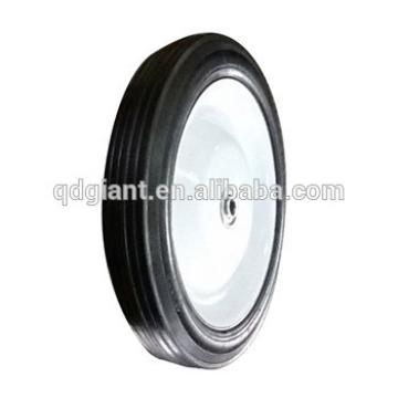 chinese supplier tyres 10''x1.75 solid rubber wheels for beach cart