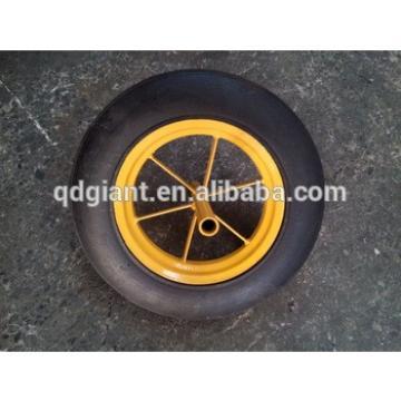 high quality 14inch hand truck wheels solid rubber trolley wheel