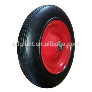 """14""""x4"""" solid rubber wheel heavy duty wheelbarrow wheels for sale"""