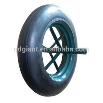 Top quality utility wheelbarrow solid rubber wheel 14 inch tyre