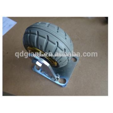 4 inch solid rubber wheel heavy duty transport caster wheel