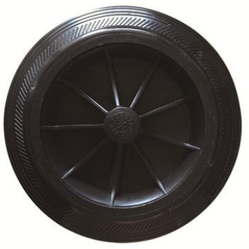 6 and 8 inch plastic rim waste bin wheel solid wheel with axle