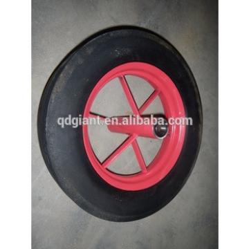 china wheel barrow solid rubber wheels 16inch