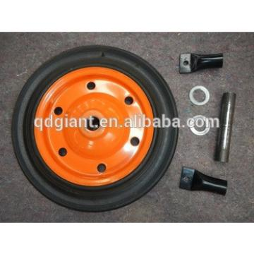 """durable solid natural rubber wheel 13""""x3"""" used for wheelbarrow"""