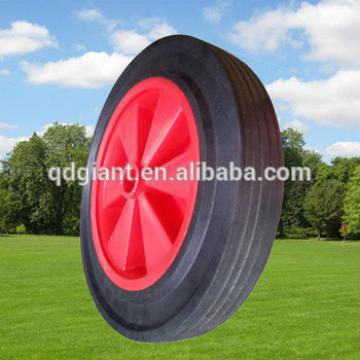 12inch plastic rim solid rubber wheels for hand trolleys