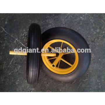 14inch solid rubber wheels for hand trolleys and wheel barrow