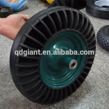 china wholesaler solid rubber wheel used for construction wheelbarrow 3.50-8