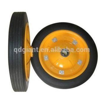 13x3 powder rubber wheel heavy duty solid rubber wheel