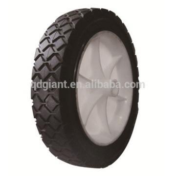 """7"""" solid wheel plastic rim trolley wagon wheels"""