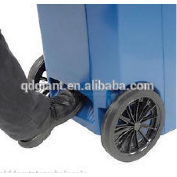 250mm solid rubber wheel for trash bin / dustbin