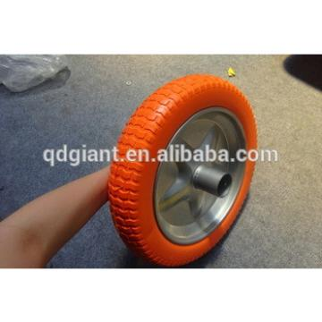 Colorful lawn pattern flat free tire for garden carts