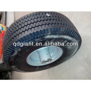 PU foam rubber wheel 410/350-4 PU flat free wheel