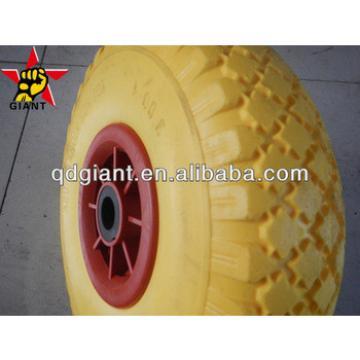 Qingdoa Yinzhu yellow pu foam wheel PU 1017
