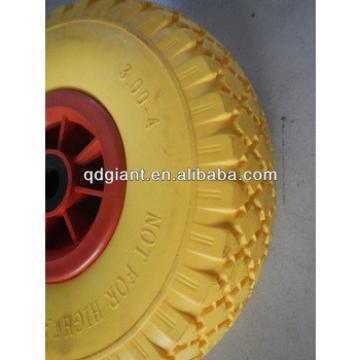 Qingdoa Giant yellow pu foam wheel PU 1017