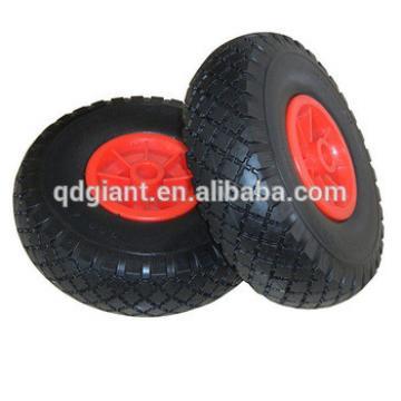Hand truck PU wheel 3.00-4 with plastic rim