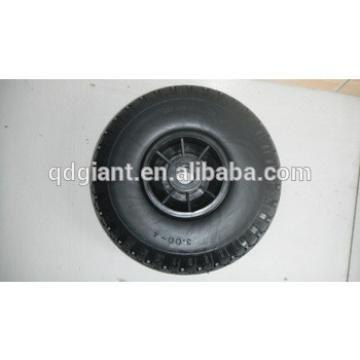 """PU Foam Flat Free Wheels 10"""" x 3.00-4"""