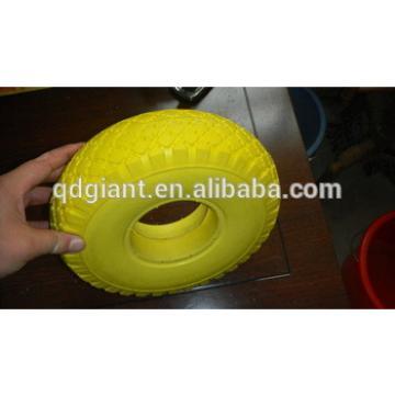 flat free pu foam wheels 3.00-4