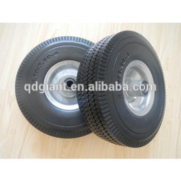 PU foam solid wheels 3.50-4 with metal rim