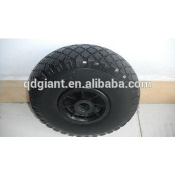 small wheels flat free PU foam wheel 3.00-4